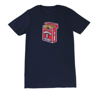 T-shirt with packet design