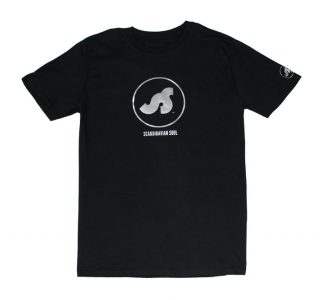 T-shirt with silver logo