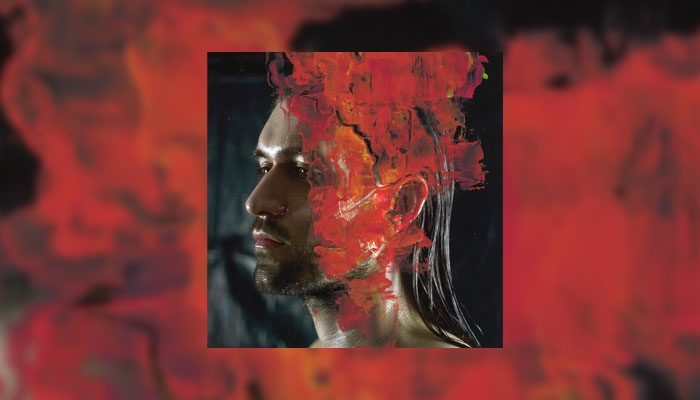 Abstract red image of man