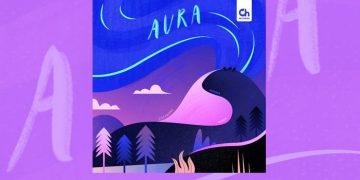 Purple illustration album cover