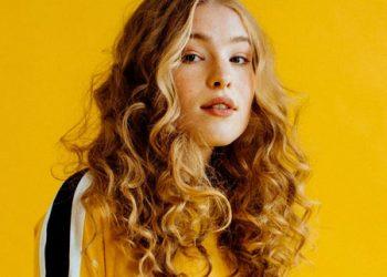 Yellow image of blonde singer