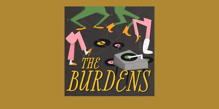 Record cover design retro graphics