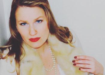 Blonde Swedish woman pearls