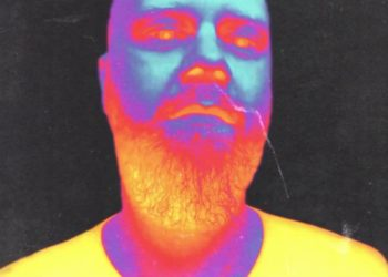 Heat effect image of man