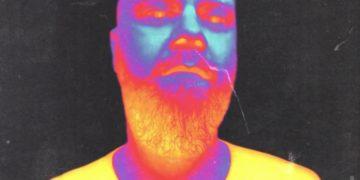 Heat effect image of man