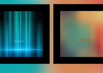 two album covers colours