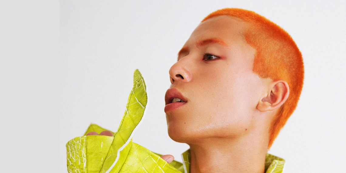 Orange hair Asian man