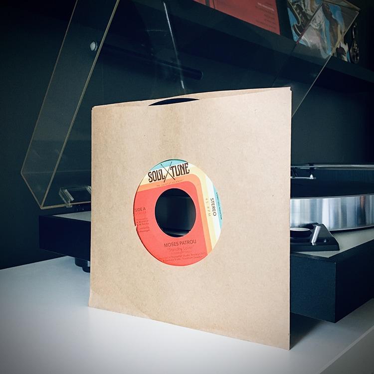 vinyl single by turntable