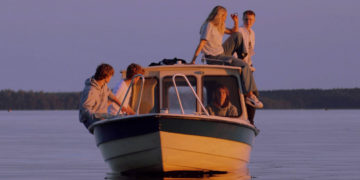 Young people on a boat