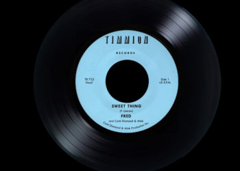 vinyl record light blue
