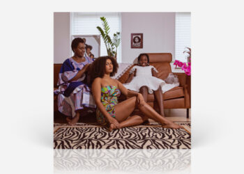 Record cover with mother and daughters