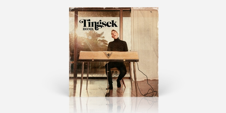 Cool album cover with man and piano