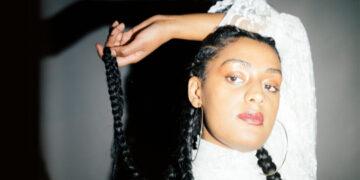 Attractive black singer