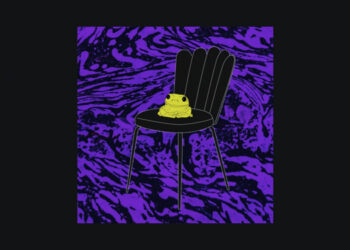Frog on a chair