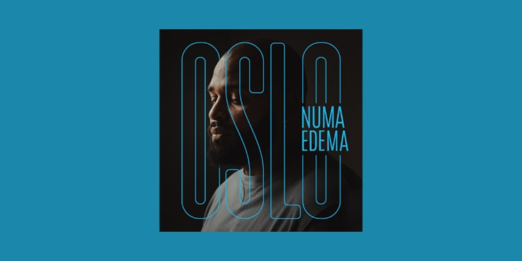 Record cover design blue