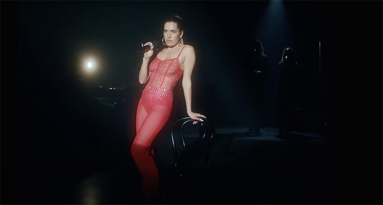Red outfit
