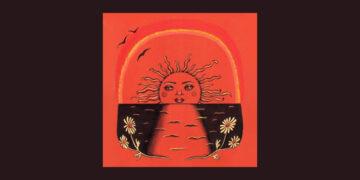 Sun illustration record cover