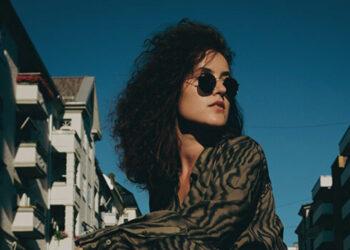 Attractive woman in dark glasses