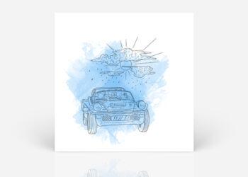 Blue illustration album cover